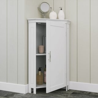 Somerset Single Door Corner Cabinet, White