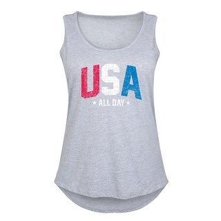 Usa All Day Patriotic Memorial Day - Women's Plus Size Tank Top