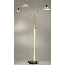 Nova 3-Light Lamp, Brushed Nickel