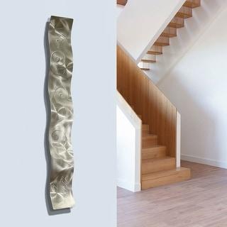 Statements2000 Metal Wall Art Accent Sculpture Modern Decor by Jon Allen - Small Wave