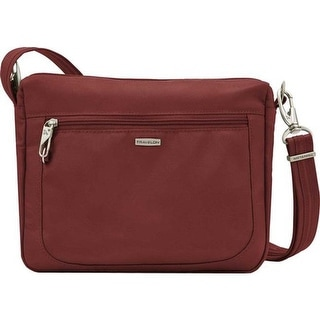 Travelon Women's Anti-Theft Classic Small E/W Crossbody Wine - US Women's One Size (Size None)