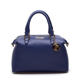 Versace Collection Leather Top-Handle Handbag Blue