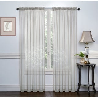 Crystal 2-Pack Sheer Rod Pocket Window Panel, 52x84 Inches