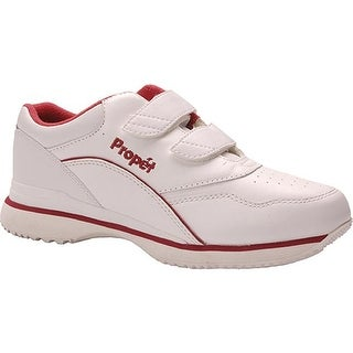 Propet Women's Tour Walker Strap Shoe White/Berry