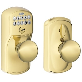 Schlage FE595-PLY-PLY Plymouth Keypad Entry with Flex-Lock Door Knob