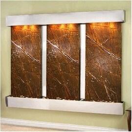 Adagio Deep Creek Falls Wall Fountain Rainforest Brown Marble Stainless Steel -