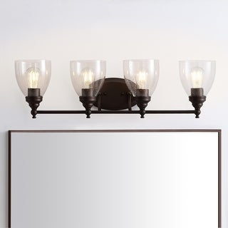 "Marais 30"" 4-Light Metal/Glass LED Wall Sconce, Oil Rubbed Bronze by JONATHAN Y"