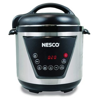 Nesco American Harvest PC6-13 Pressure Cooker, 6 quart, Silver & Black
