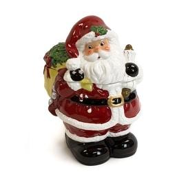 Golly Gee Figural Ceramic Santa Cookie Jar