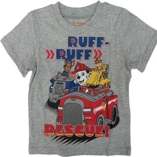 Nickelodeon Little Boys Grey Paw Patrol Print Short Sleeved T-Shirt