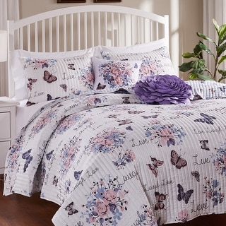 Barefoot Bungalow Garden Joy Oversized Quilt and Pillow Sham Set