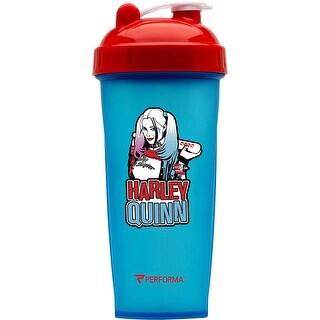 PerfectShaker Performa 28 oz. Villain Shaker Cup Bottle - Harley Quinn - Blue - 28 oz.