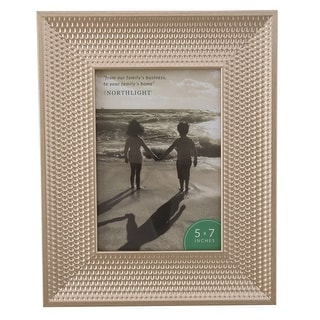 "10.25"" Champagne Gold Honeycomb Rectangular Photo Frame for 7"" x 5"" Photo - 5-inchx7-inch"