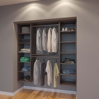Modular Closets 6 FT Closet Organizer System - 72 inch - Style G