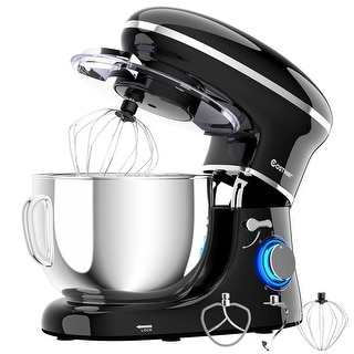 Costway 6.3 Quart Tilt-Head Food Stand Mixer 6 Speed 660W w/Dough