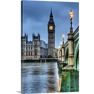 """Big Ben in London at dawn"" Canvas Wall Art"