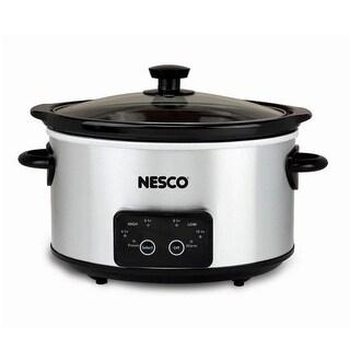 Nesco DSC-4-25, 4 Qt. Digital Stainless Steel Slow Cooker