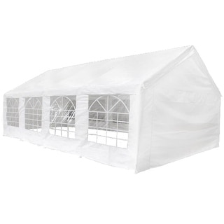 vidaXL Marquee 26.2'x13.1' Garden Party Tent Gazebo Wedding Canopy Shade White
