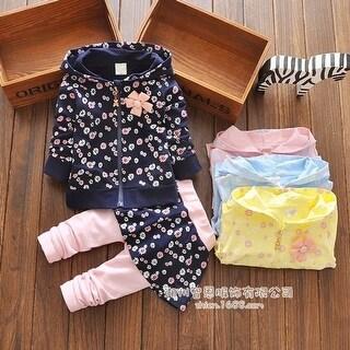 New Arrival Autumn Children Clothes Children Casual Fahsion Coat + Cotton Pants 2 Pcs Set Baby Girl Cotton Long Sleeve Sets
