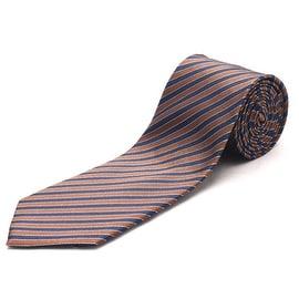 Luciano Barbera Slim Silk Necktie Brown