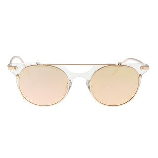 Dolce & Gabbana DG2196 12984Z Clear Mirror Oval Sunglasses - 49-22-145