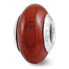 Sterling Silver Reflections Red Jasper Bead (4mm Diameter Hole)