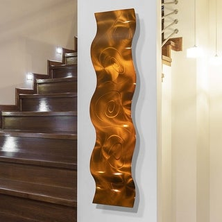Statements2000 3D Metal Wall Art Accent Wave Sculpture Modern Decor by Jon Allen