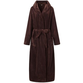 Richie House Men's Warm and Soft Fleece Robe Bathrobe with Hood