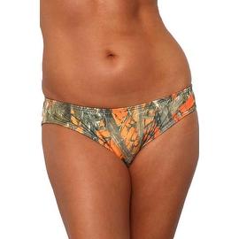 Women's Orange Camo Authentic True Timber Basic Bikini BOTTOM ONLY Beach Swimwear