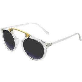 Women Ladies Sunglasses Wayfarer Clubmaster Bridgeless Cat Eye, Clear Smoke