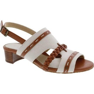 Ros Hommerson Women's Vacay Slingback Tan Leather/Canvas
