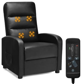 Costway Electric Modern Massage Recliner Sofa Chair Lounge with