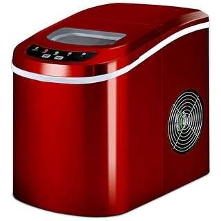 Costway Red Portable Compact Electric Ice Maker Machine Mini Cube