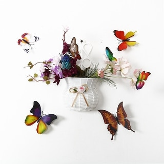 24pcs 3D Butterfly Wall Sticker Decal Room Decoration for Home Decor Colorful - Blue