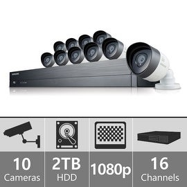 SDH-C75100 - Samsung 16 Channel 1080p HD 2TB Security System with 10 Cameras
