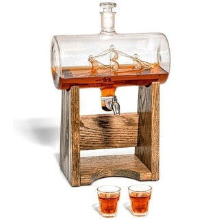 Seven Seas Spigot Decanter with Oak Base