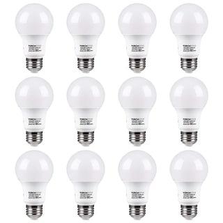 UL-Listed 9W A19 LED Light Bulb, 12 Pack