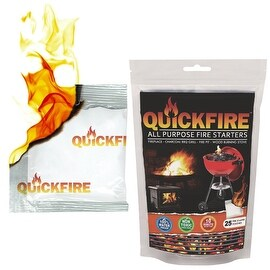 QuickFire, Instant Fire Starters-50 Pack. Waterproof, Odorless And Non-Toxic.