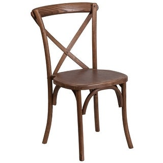 Stackable Wood Cross Back Chair - Dining Room Seating