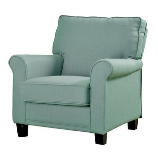 Belem Light Blue Wingback Accent Chair