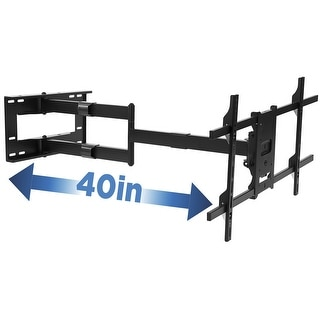 Mount-It! Long Arm TV Mount, Full Motion Wall Bracket with 40 inch Extension Articulating Arm