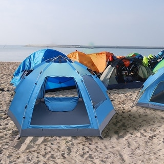3-4 Person Outdoor Camping Automatic Family Tent Pop Up
