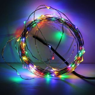 100LEDs RGBY Fairy LED Wire Christmas String Lights, 33ft (10m) Multicolor Starry Lights