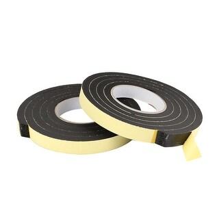 2pcs 6.6ft x 3/5'' x 4/5'' Foam Seal Tape Car Door Sealing Strip Self Adhesive
