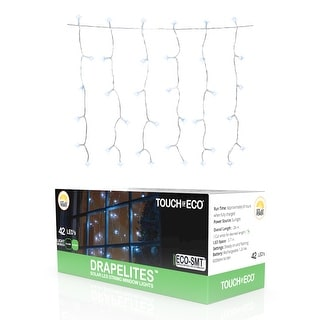 Solar Window Icicle 42 LED String Light - 1, 2 or 4 Pack - White