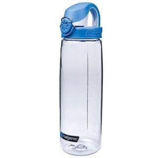 Nalgene Tritan On the Fly Water Bottle - 24 oz.- Clear/Seaport - 24 oz.