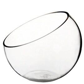 "CYS® Plant Terrarium Half Cut Slant Bowl Vase. H-7"", Body-8"""