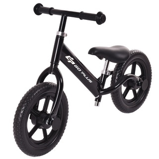 Goplus 12'' Balance Bike Classic Kids No-Pedal Learn To Ride Pre Bike - 33''L x 14.3''W x 19.3''-23.3''H