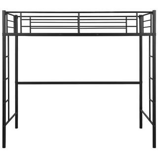 Gymax Twin Loft Bed Metal Bunk Ladder Beds Boys Girls Teens Kids