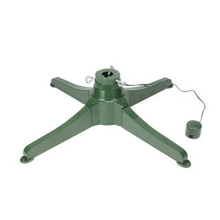 "18"" Green Musical Rotating Christmas Tree Stand for Artificial Trees up to 7.5'"